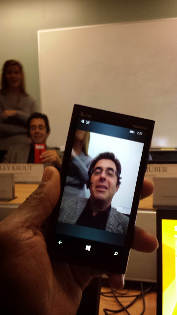 Barry Moltz and Ramon video chat on phone