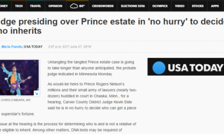 Will The Courts Decide Your Estate Distribution? Lessons From Prince.