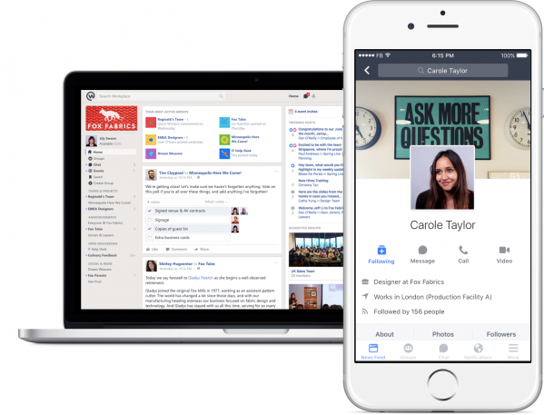 Facebook Workplace: Now Collaborate With Your CoWorkers Using Facebook