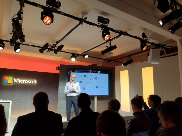 Satya Nadella Launching Microsoft Teams