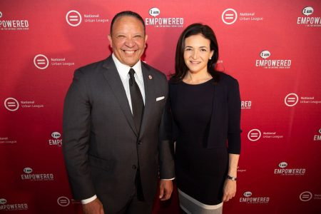 Facebook COO Sheryl Sandberg and National Urban League President Marc Morial